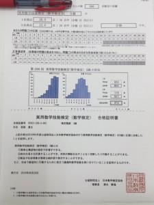 数学検定合格!